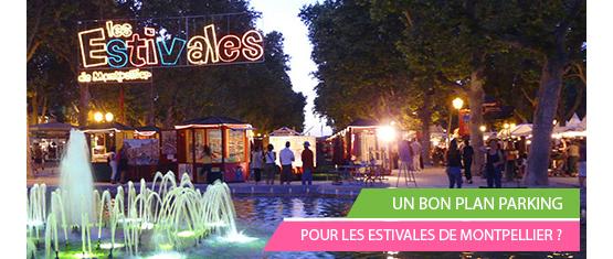 encart promotionnel de l'offre Estivales de Montpellier