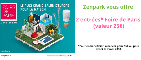 encart promotionnel de l'offre Bannière Foire de Paris - Parkings