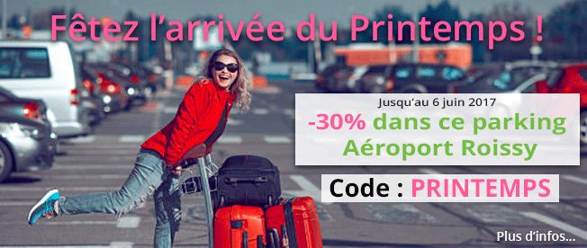encart promotionnel de l'offre Offre aéroports Roissy
