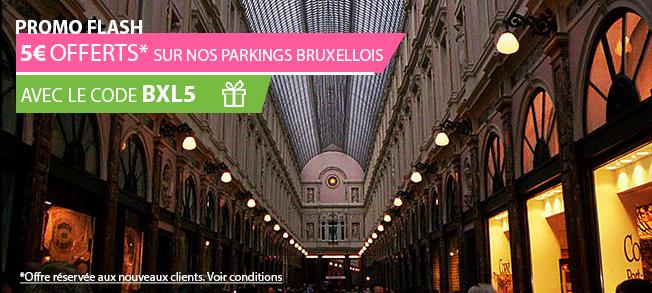 encart promotionnel de l'offre Push Parking : OP Bruxelles Février 2018 - pages parking